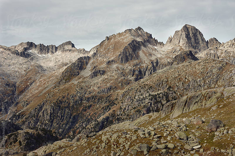 Scenic mountain landscape in the Pyrenees by Miquel Llonch for Stocksy United