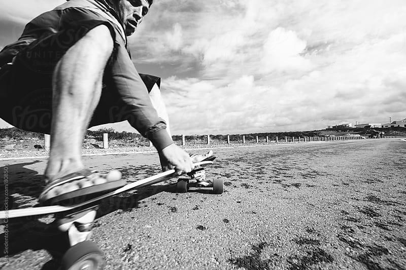 Downhill skateboarding by Urs Siedentop & Co for Stocksy United