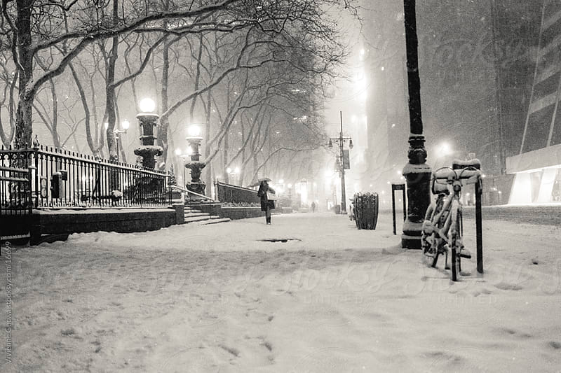 New York Winter - Snow Covered Street by Vivienne Gucwa for Stocksy United