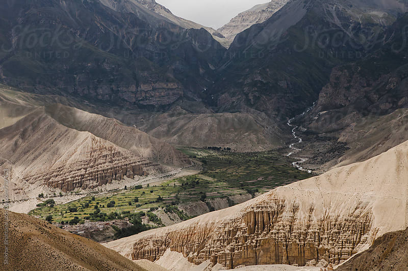 Pockets of village on the way to Lo Manthang, Upper Mustang, Nepal. by Shikhar Bhattarai for Stocksy United