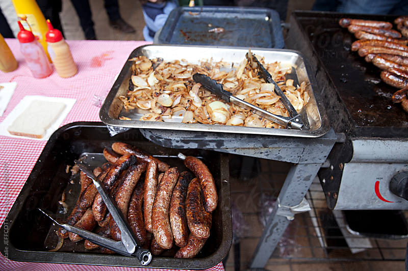 Australian Election Day Sausage Sizzle by Natalie JEFFCOTT for Stocksy United