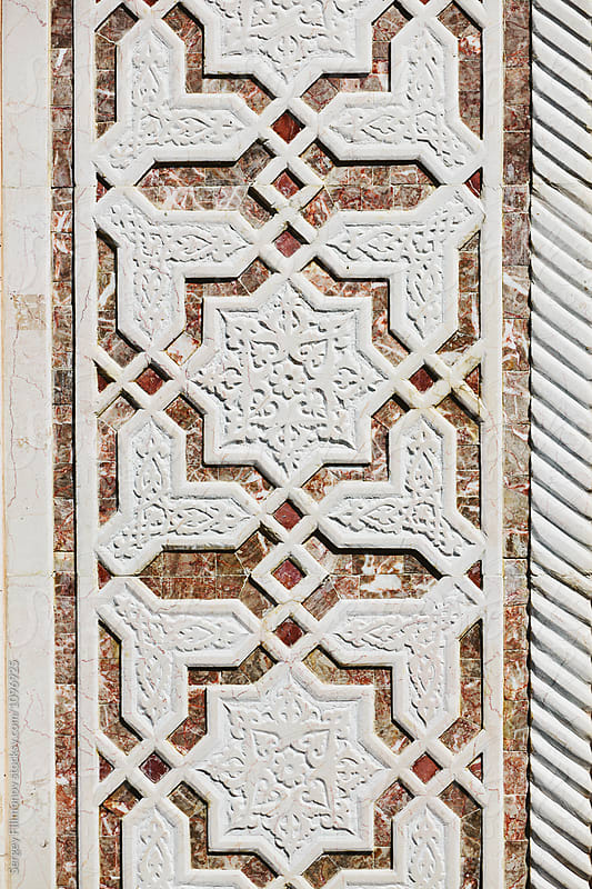 architecture ceramic relief in the Kul Sharif Mosque by Sergey Filimonov for Stocksy United