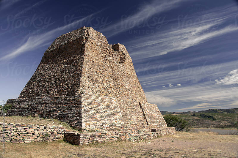 La Quemada pyramid outside Zacatecas, Mexico by Per Swantesson for Stocksy United