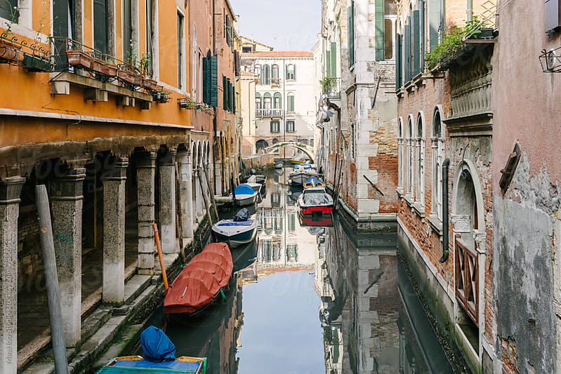 Houses along canal, Venice, Italy by MaaHoo Studio for Stocksy United