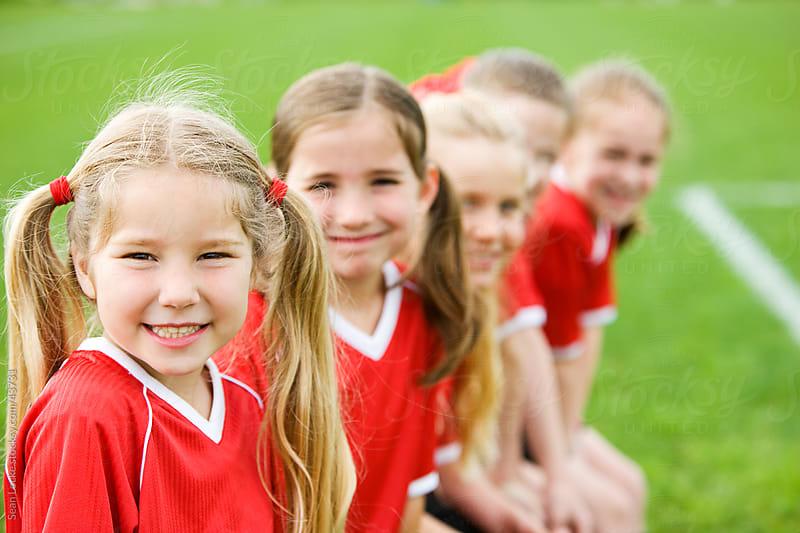 Soccer: Cute Girls Soccer Team Before Game by Sean Locke for Stocksy United