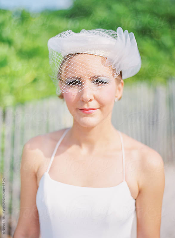Hipster Bride in White  by Marlon Richardson for Stocksy United