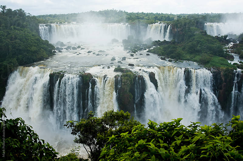 Brazil -  Iguazú (Iguassu) Falls by Mark Pollard for Stocksy United