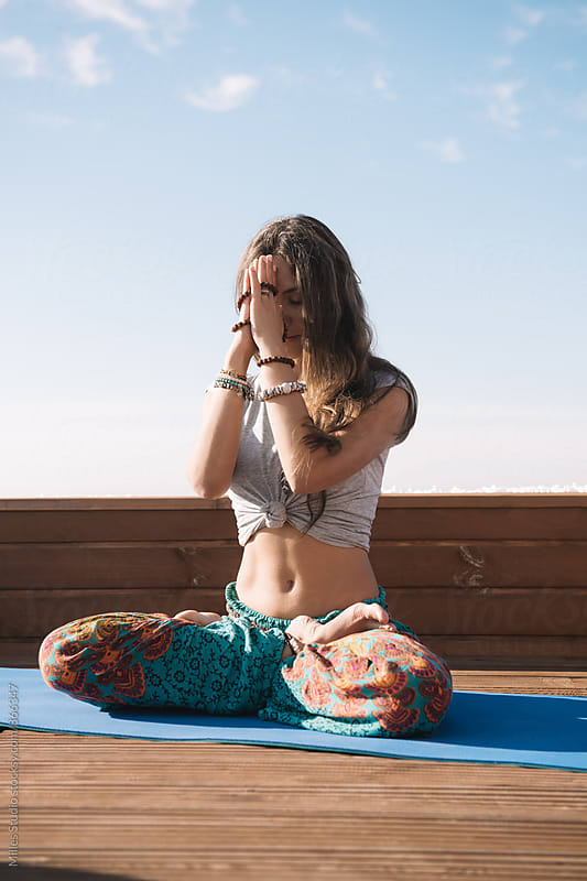 Woman doing yoga by Milles Studio for Stocksy United