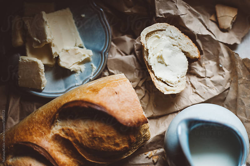 Bread and butter by Natasa Kukic for Stocksy United