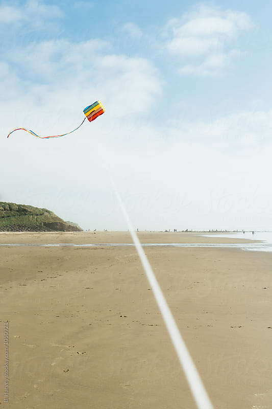 Flying Kites on the Beach by B. Harvey for Stocksy United