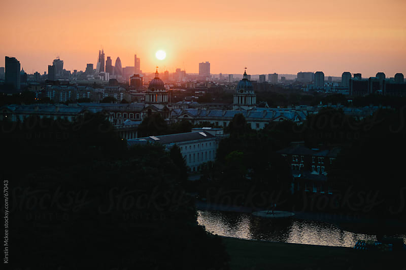 View of London from One Tree Hill, Greenwich by Kirstin Mckee for Stocksy United