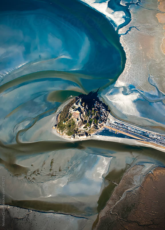Over the Mont Saint Michel by Nicolas Cazard for Stocksy United