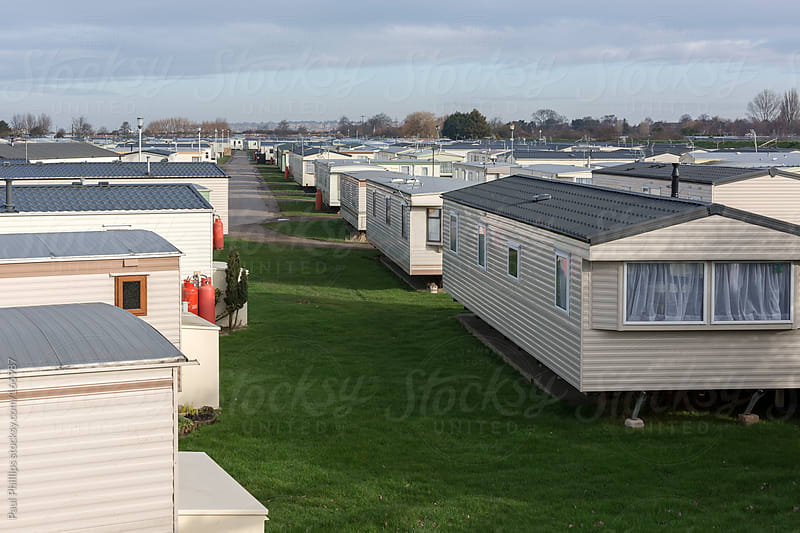 Vacation trailer (caravan) park by Paul Phillips for Stocksy United