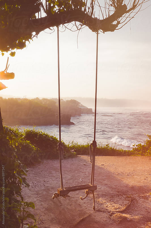 Wooden Swing at  Tropical Beach  by Alexander Grabchilev for Stocksy United