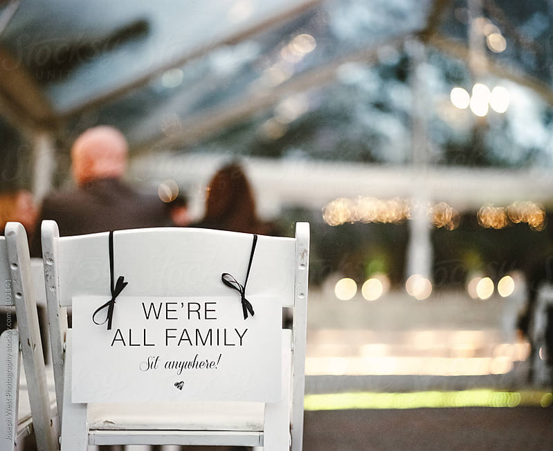We're All Family Sign by Joseph West Photography for Stocksy United
