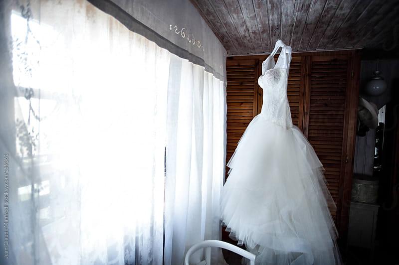 White wedding dress by Jean-Claude Manfredi for Stocksy United