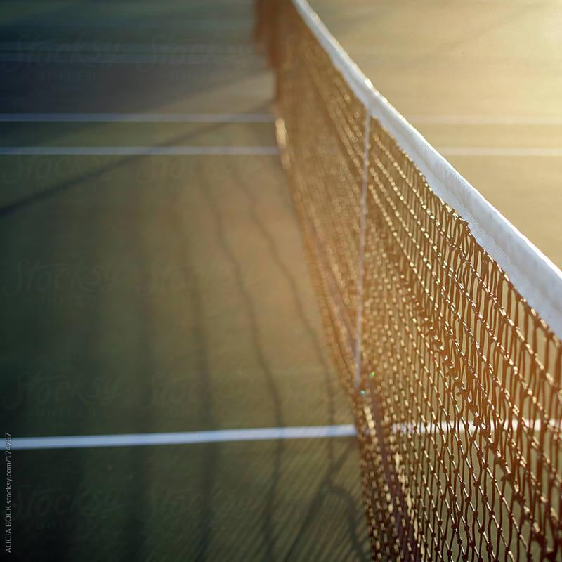 Tennis Net In Sunlight by ALICIA BOCK for Stocksy United