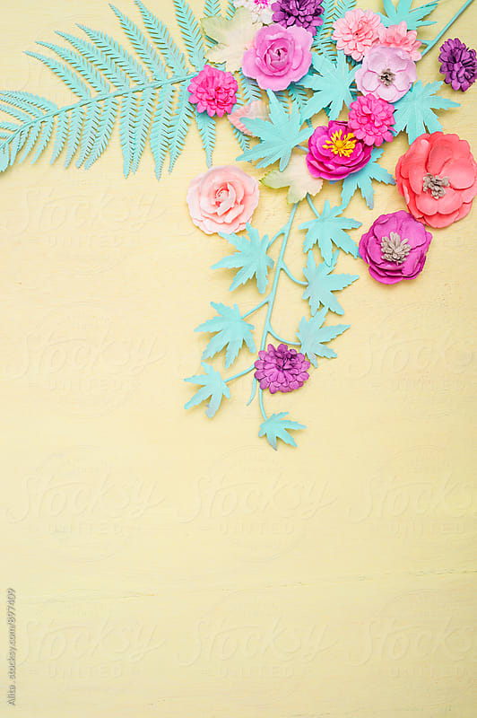 Pastel floral background by Alita Ong for Stocksy United