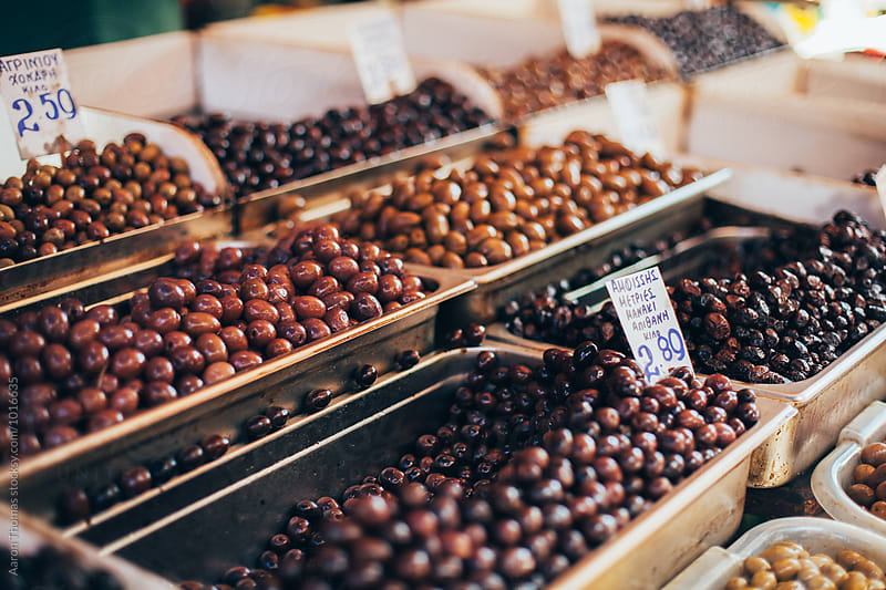 Olives at Market by Aaron Thomas for Stocksy United