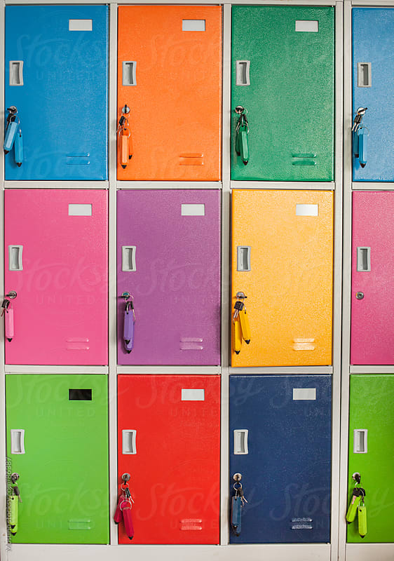 Colorful School Lockers by Mosuno for Stocksy United