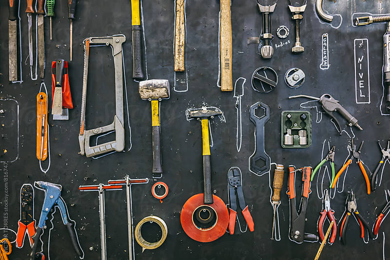 Workshop's Tool Board by VICTOR TORRES for Stocksy United