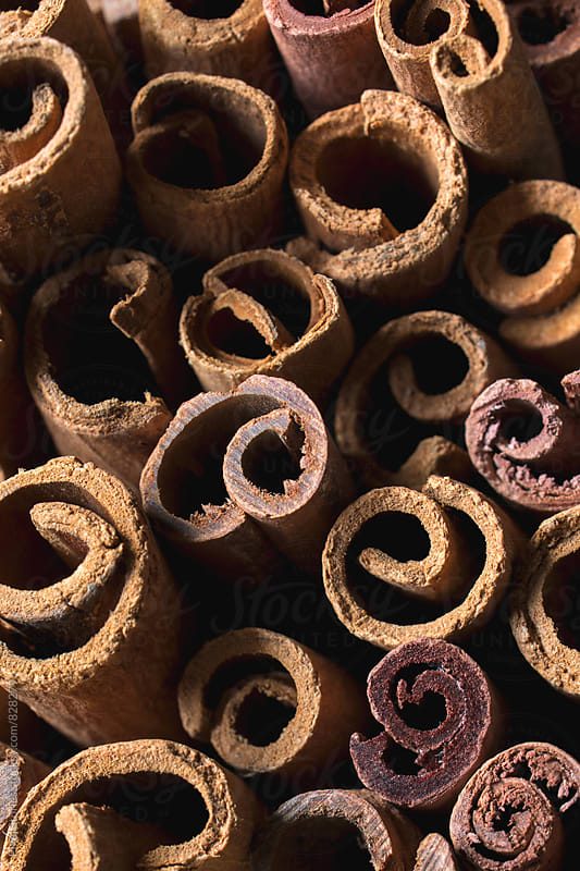Cinnamon sticks background by Pixel Stories for Stocksy United