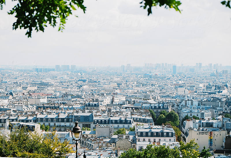 View of Paris from Montmartre by Léa Jones for Stocksy United