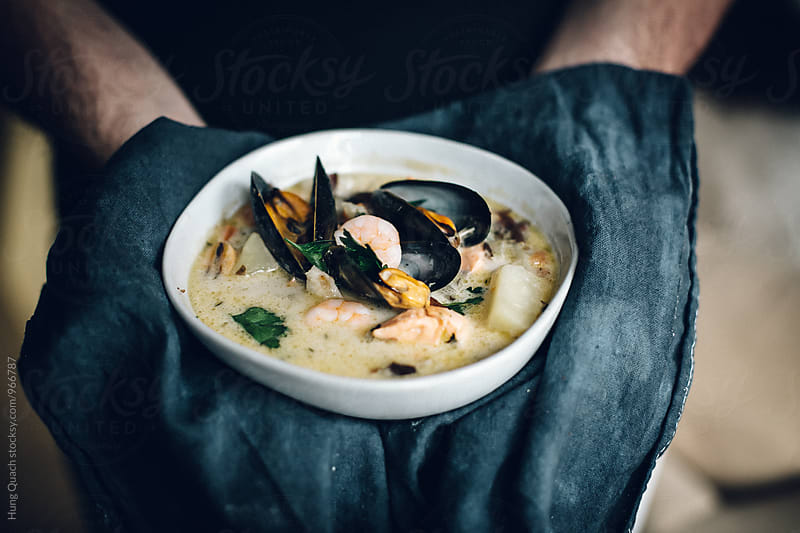 Seafood Chowder by Hung Quach for Stocksy United