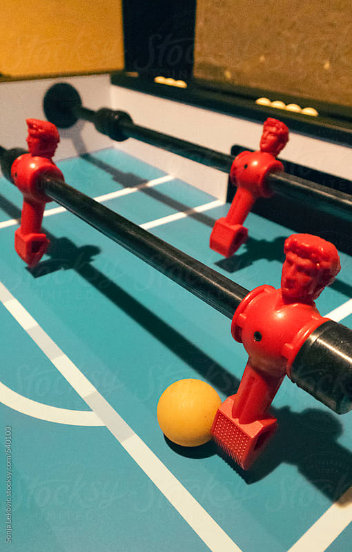 table soccer players closeup by Sonja Lekovic for Stocksy United