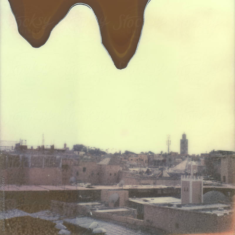 Old Film Photograph of Rooftops of the Medina in Marrakesh, Morocco by Briana Morrison for Stocksy United