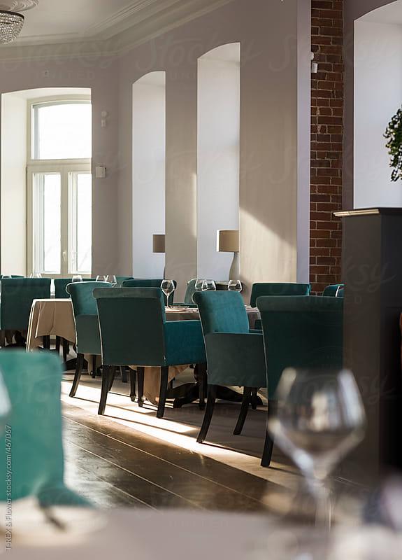 Luxury restaurant interior by T-REX & Flower for Stocksy United