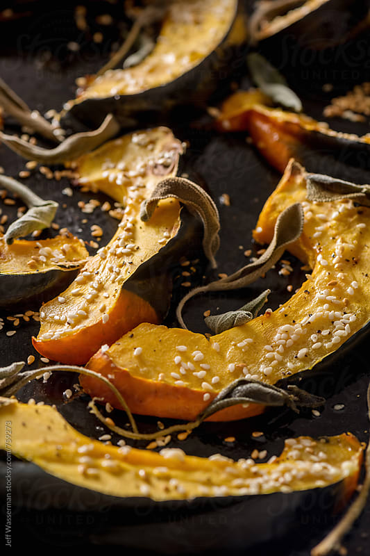 Roasted Acorn Squash by Jeff Wasserman for Stocksy United