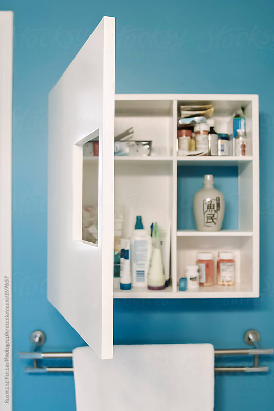 Medicine Cabinet in Bathroom by Raymond Forbes LLC for Stocksy United
