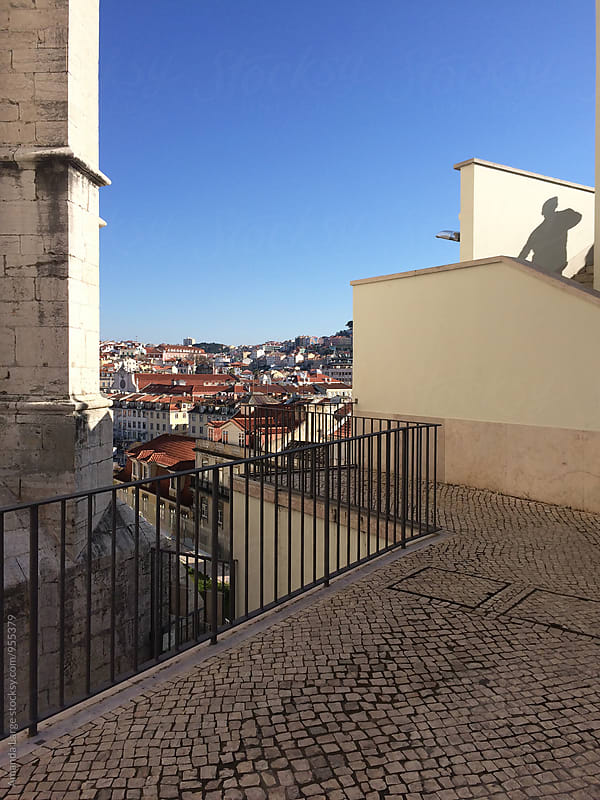 View of Lisbon, Portugal from Terraços dos Carmos by Amanda Large for Stocksy United
