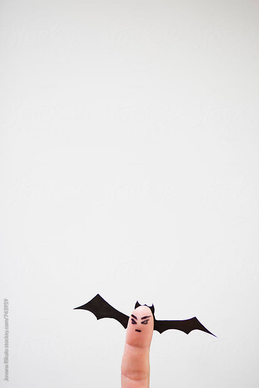Halloween finger bats by Jovana Rikalo for Stocksy United