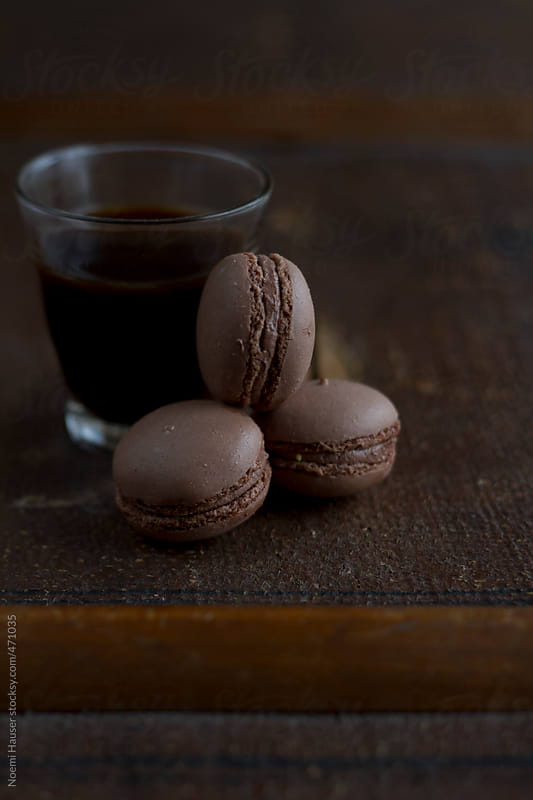 Chocolate macarons by Noemi Hauser for Stocksy United