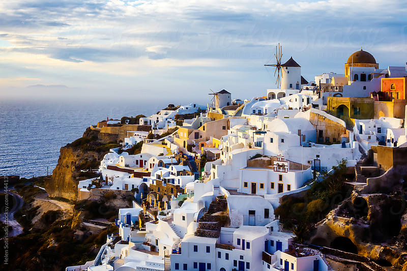 The village of Oia in the island of Santorini, Greece by Helen Sotiriadis for Stocksy United