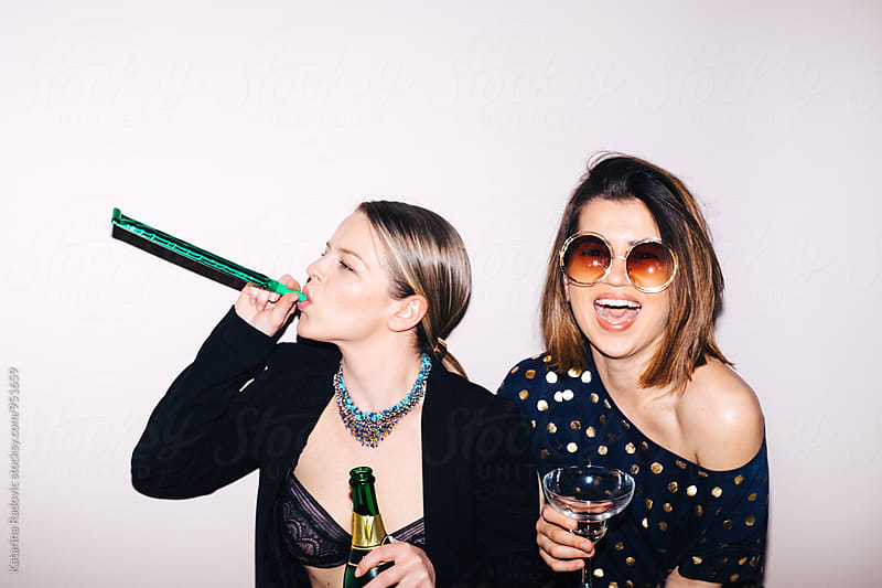 Two Wild Party Girls by Katarina Radovic for Stocksy United