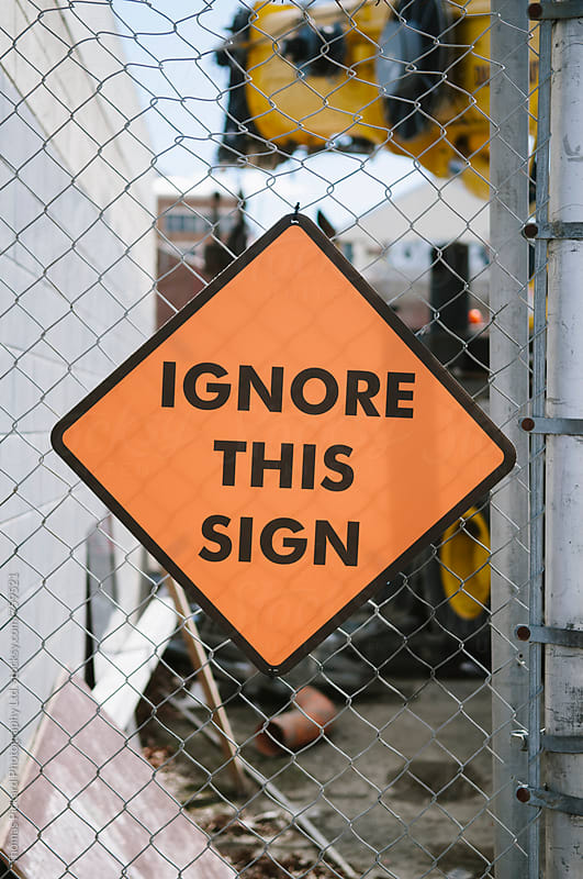 Funny sign, Christchurch, New Zealand. by Thomas Pickard Photography Ltd. for Stocksy United