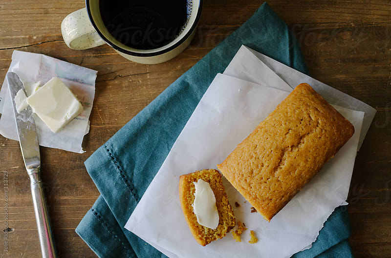 Mini loaf of pumpkin bread by Julie Rideout for Stocksy United