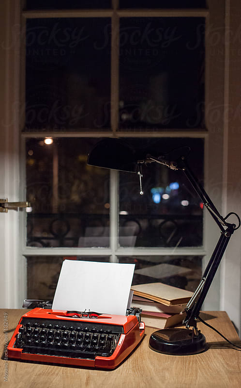 Typewriter on a desk. by Mosuno for Stocksy United
