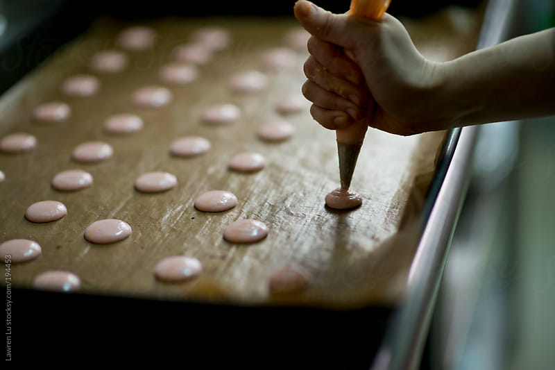 Making french macaron by Lawren Lu for Stocksy United