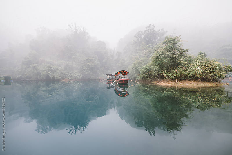 lake in Dinghu Mountain by Xunbin Pan for Stocksy United