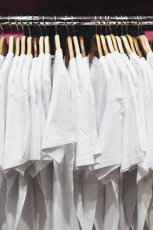 T-Shirts on a Rack by Helen Sotiriadis for Stocksy United