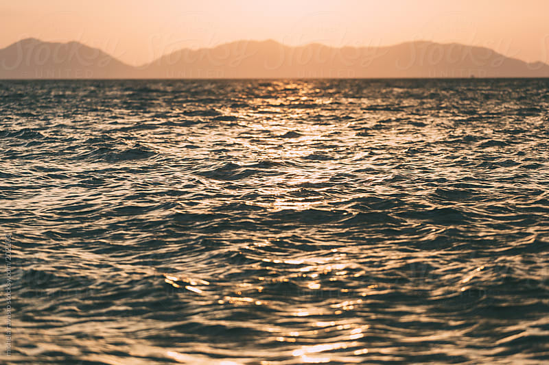 Seascape at sunset by michela ravasio for Stocksy United