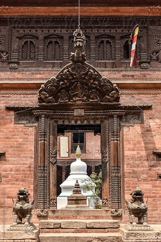 Hindu temple facade at Bhaktapur by Bisual Studio for Stocksy United