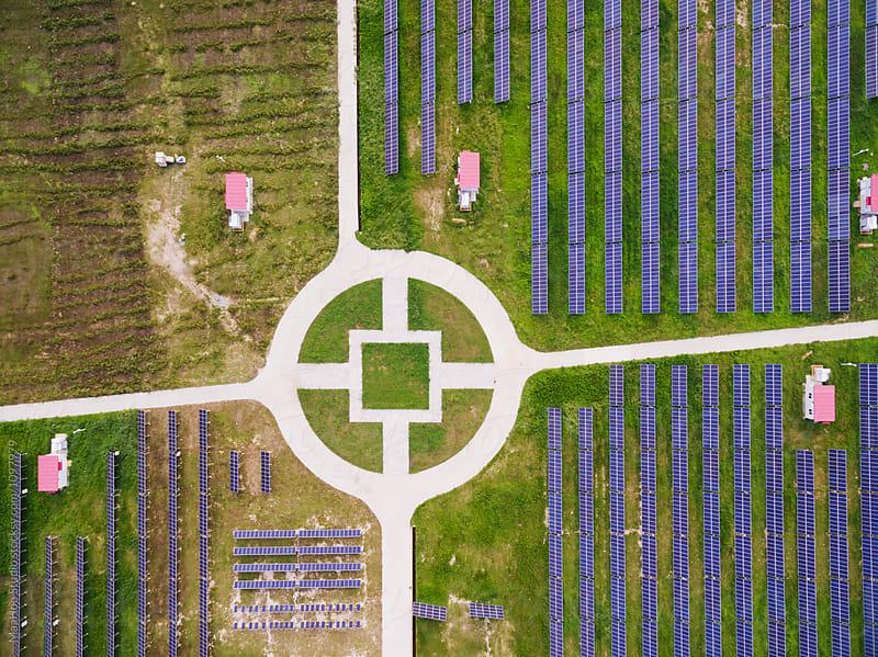 Aerial view of Solar energy by MaaHoo Studio for Stocksy United