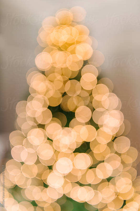 abstract blurred christmas tree lights by Gillian Vann for Stocksy United