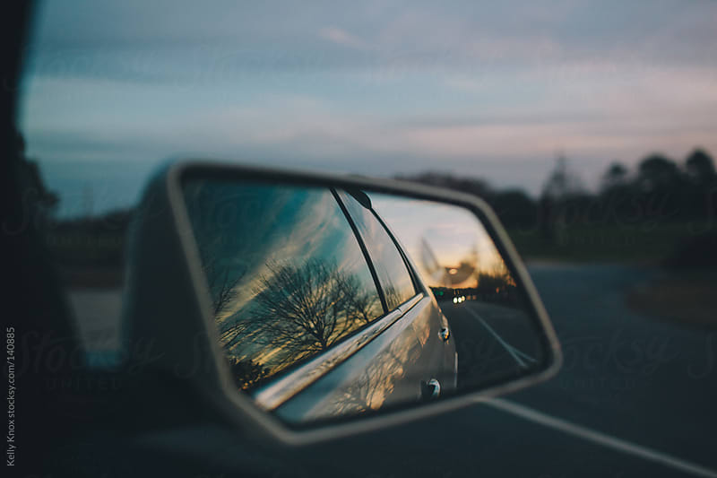 side view mirror reflections by Kelly Knox for Stocksy United