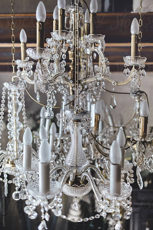 Crystal Chandelier by Lumina for Stocksy United